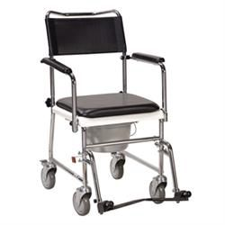 Drive Folding, Portable Commode W/Wheels,Drop Arms