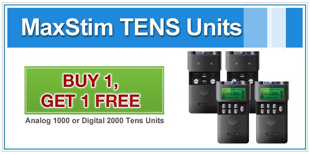 MaxStim TENS Units, Buy 1 Get 1 Free