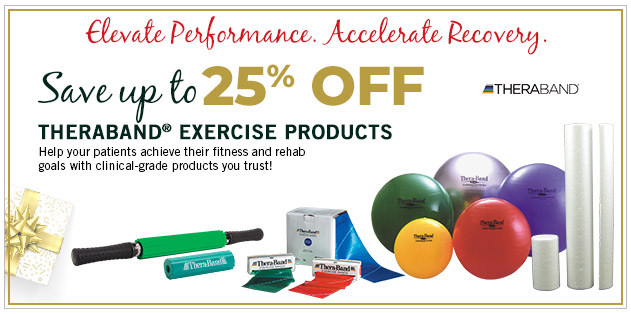 Save up to 25% Theraband Exercise Products