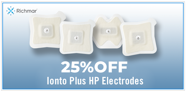 25% Off Ionto Plus HP Electrodes