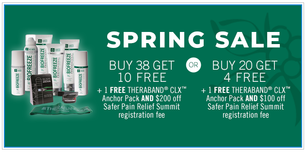 Biofreeze Professional Spring Sale