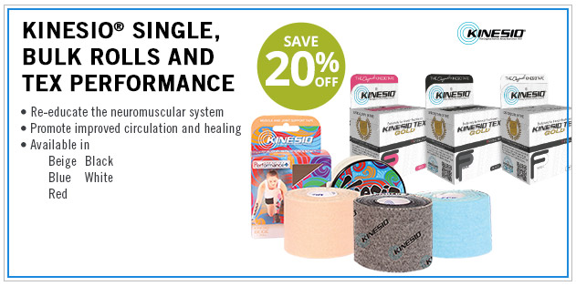 Kinesio Single Bulk Rolls and TEX