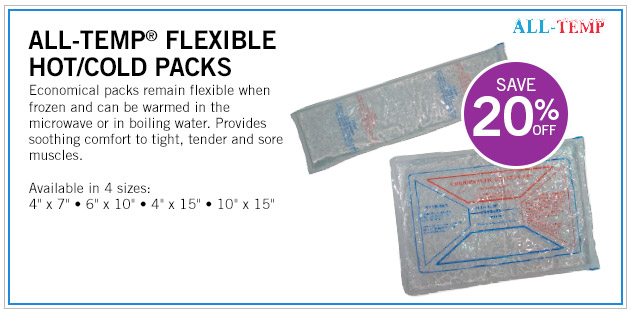 Save 20% Off on ALL-TEMP Flexible Hot-Cold Packs