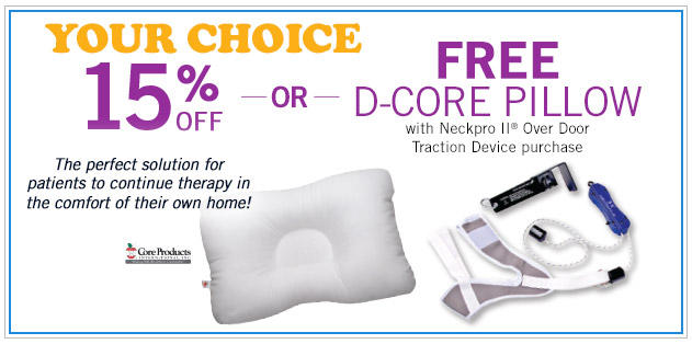 D-Core Support Pillow or Neckpro II Over Door Traction Device