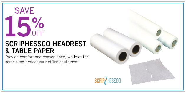 Save 15% Off on Scriphessco Headrest and Table Paper