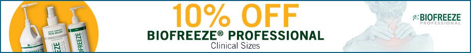 10% Off Biofreeze Professional Clinical Sizes
