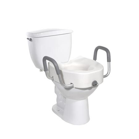 Premium Elevated Reg/Elon Toilet Seat W/Arm & Lock