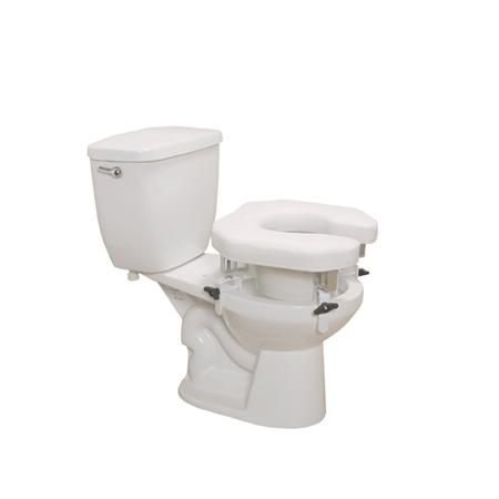 Drive Open Padded Raised Toilet Seat W/4Lock Brkts