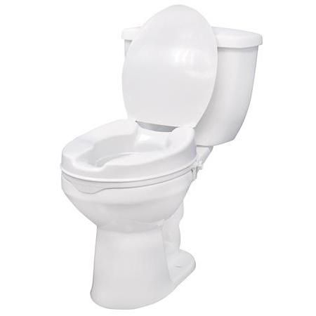 "Drive Raised Toilet Seat, 6"" With Lid"