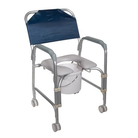 Drive Aluminum Shower Chair And Commode W/Casters