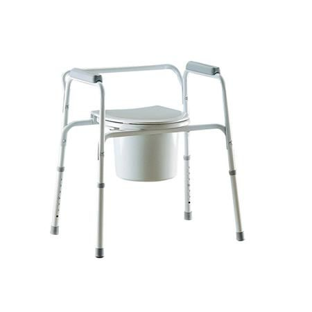Invacare All-In-One Gray Coated Steel Commode