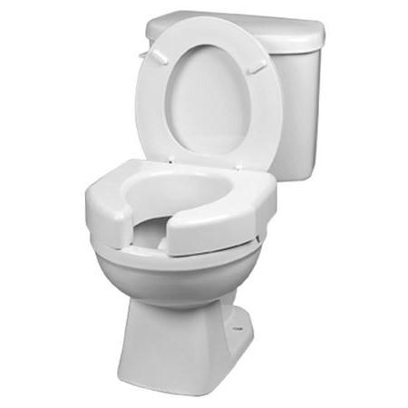 Basic Open Front Raised Elevated Toilet Seat