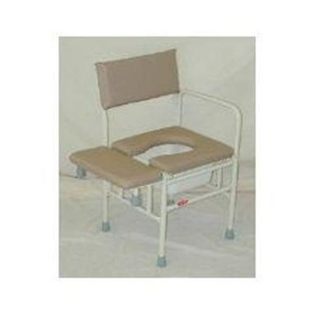Tub Commode Chair With Side Opening-Choice of Tips