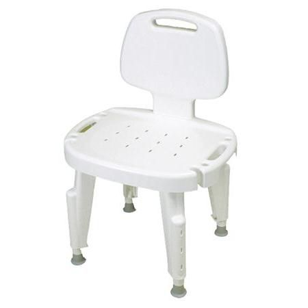 Bath Safe Height Adjustable Shower Chair with Back