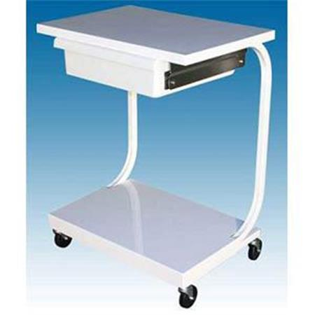 2 Shelf Specialty Cart With Drawer - White