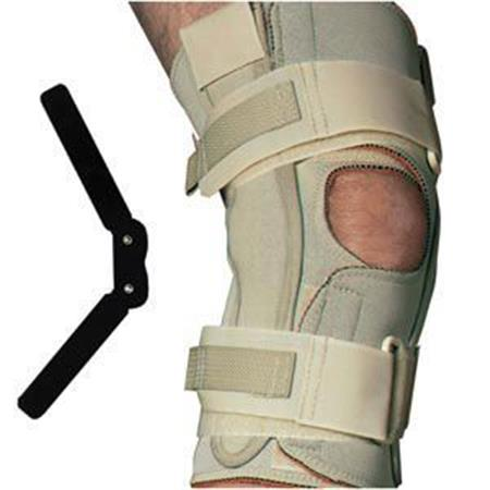Double Hinged Knee Wrap, Open Popliteal