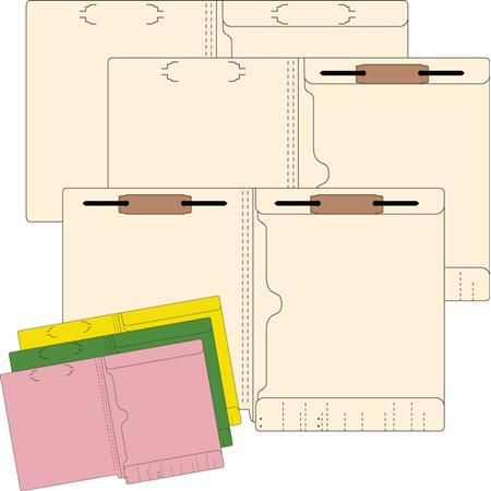 11 Pt Pocket Folder Without Fastener, 50/Box