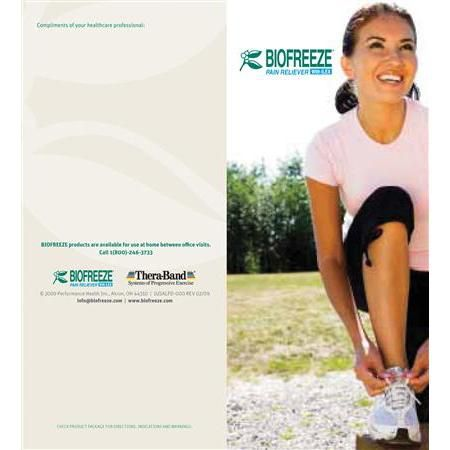 Biofreeze Patient Education Brochures 50 Pack