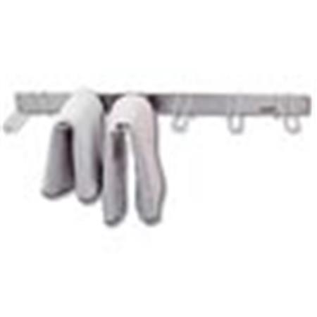 Wall Mounted Stainless Steel Drying Rack, 6 Bracket
