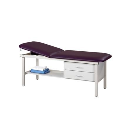 Steel Straight Line Treatment Table W/Drawers