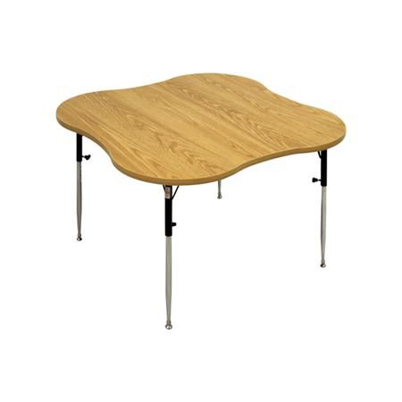Hausmann 4-Cutout Table With Adjustable Legs