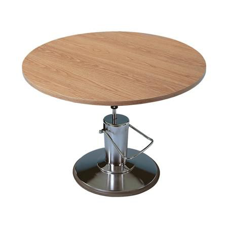 Hausmann Round Hydraulic Lift Table, 48""