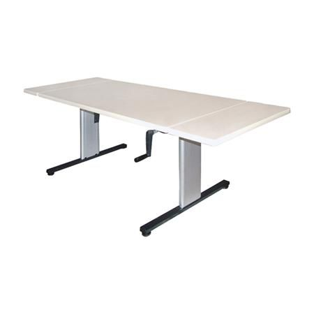 "Hausmann Hi-Lo Expandable Table 60-84""X32""X27-39"""