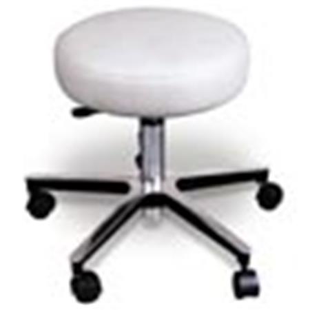 "Deluxe Chrome Pneumatic Stool, 19""-26"" Height"