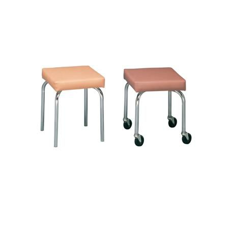 "Square Rolling Stool 17""H"
