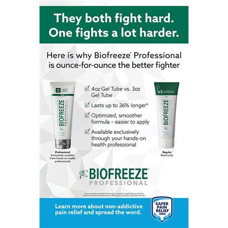 Biofreeze Safer Pain Relief Poster Kit-Forfllpromo