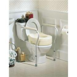 Invacare Raised Toilet Seat Risers for Elderly & Disabled