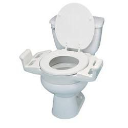 Elevated Push-Up Toilet Seat 3' with Armrests - Toilet Seat Riser