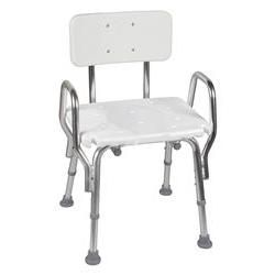Mabis DMI Shower Chair with Backrest - Shower & Bath Bench with Handrails