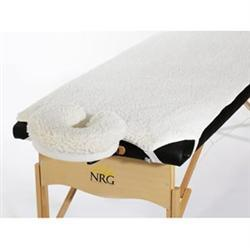 NRG® Fleece Massage Table Pad and Face Rest Cover Set