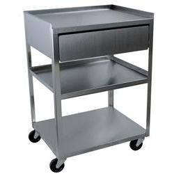 Single Locking Cabinet With Drawer