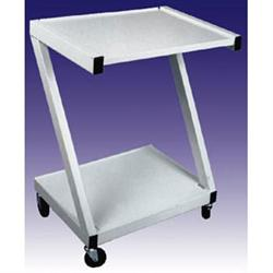 Steel 2 Shelf Cart - White