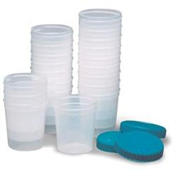 Specimen Cups With Lids 4 oz, 20 package - Urine Specimen Cups