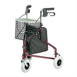 Invacare 3-Wheeled Rollator W/Tote, Basket, Tray