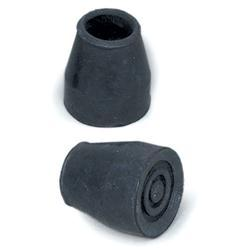 Metal Cane or Walker Tips 7/8', Black, 1 Pair