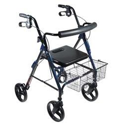 "Aluminum Rollator Assembly 8"" Wheels, Front & Rear"