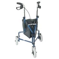 DMI 3-Wheel Steel Rollator, Royal Blue, 2 per Case