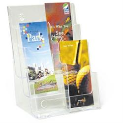 Clear Lucite Multi-Pocket Rack - 6 Pockets Holds 4'X9' Brochures