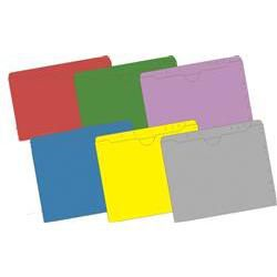 11 Pt Top Tab Non-Expandable Pocket Folders, 100/B