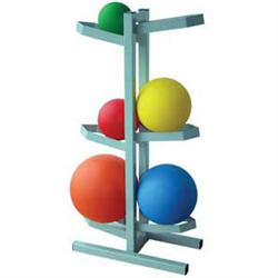 Free Standing Medicine Ball Rack-Holds 6