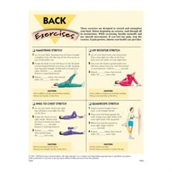 Back Exercises, 50 Tear-Off Sheets/Pad