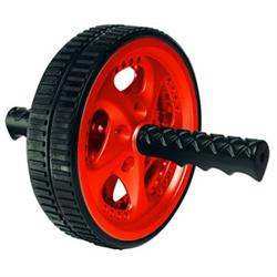 Valeo Dual Ab Wheel Black Tread W/ Red Wheels