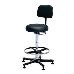 Hausmann Pneumatic Lab Stool With Backrest