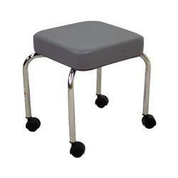 Hausmann Stool With Casters, Grey 14' X 14' X 18'