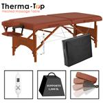 "Master® Massage Equipment 28"" Fairlane™ Portable Massage Table with Therma-Top® Package Cinnamon"