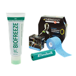 12 Biofreeze Touchless tubes + Roll + Roller